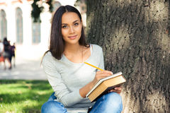 Portrait of a happy female student Royalty Free Stock Photography