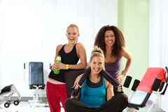 Portrait of happy fit girls Royalty Free Stock Photo