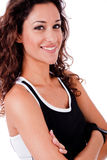 Portrait of happy fitness woman Stock Photo