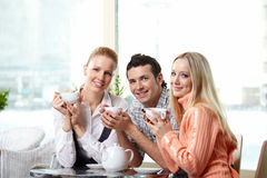 Portrait of happy friends Stock Photos