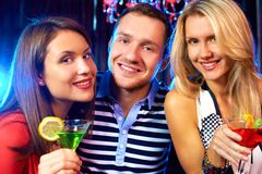 Partying together Royalty Free Stock Image