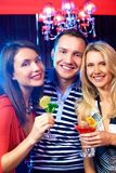 Friends having party Stock Image