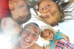 Portrait of happy friends having fun outdoor Stock Images