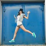 Portrait of happy funny teenage girl having fun Stock Image