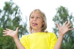 Portrait of happy girl Stock Photos