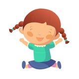Portrait of happy girl. Is sitting Stock Image