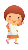 Portrait of happy girl. Is standing Stock Photos