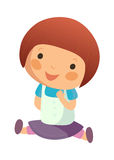 Portrait of happy girl. Is sottong Stock Image