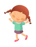 Portrait of happy girl. Is smiling Royalty Free Stock Images