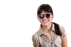 Portrait of happy girl with glasses Stock Photography