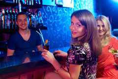 Girls in the bar Stock Photography
