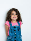 Portrait of happy girl. Portrait of a happy, positive, smiling, little girl Royalty Free Stock Photo