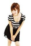 Portrait of happy girl teenager stock image
