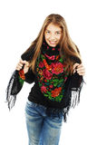 Portrait of happy girl teenager royalty free stock image