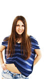 Portrait of happy girl teenager Stock Photos