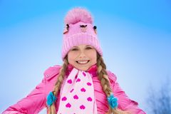 Portrait of happy girl in winter Royalty Free Stock Image
