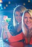Girl toasting Stock Photos