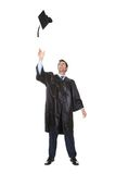 Portrait of happy graduate student cheering Royalty Free Stock Photography