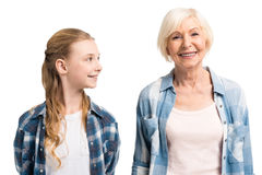 Portrait of happy grandmother and granddaughter Royalty Free Stock Photography