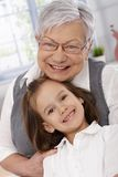 Portrait of happy granny and granddaughter Royalty Free Stock Photos