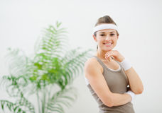 Portrait of happy healthy woman in sportswear Stock Photo