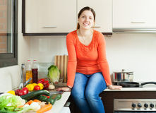 Portrait of happy housewife Royalty Free Stock Photography