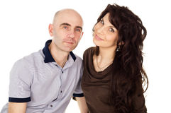 Portrait of happy husband and wife Stock Images
