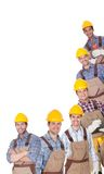 Portrait of happy industrial workers Stock Photo