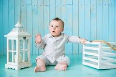 Portrait of happy joyful beautiful little boy Royalty Free Stock Photos