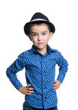 Portrait of happy joyful beautiful little boy royalty free stock image