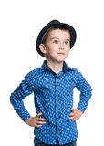 Portrait of happy joyful beautiful little boy Stock Images