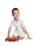 Portrait of happy joyful beautiful little boy Royalty Free Stock Photo