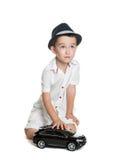 Portrait of happy joyful beautiful little boy Stock Photo