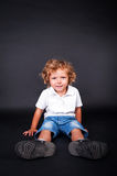Portrait of happy joyful beautiful little boy Royalty Free Stock Images