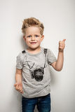 Portrait of happy joyful beautiful little boy Royalty Free Stock Photography