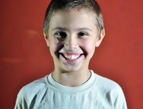 Portrait of happy joyful cute little boy, studio shot Stock Images