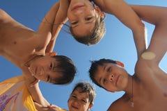 Happy kids. Portrait of happy kids emotions Royalty Free Stock Image