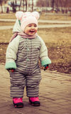 Portrait of a happy laughing baby.  Royalty Free Stock Images