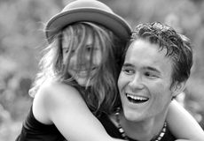 Free Portrait Happy Laughing Young First Love Couple Stock Images - 34243904