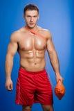 Portrait of a happy lifeguard Stock Images