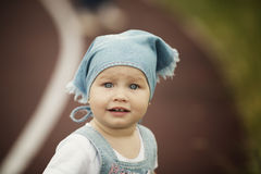 Portrait of happy liitle girl Royalty Free Stock Images
