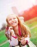 Portrait of a happy liitle girl Royalty Free Stock Images