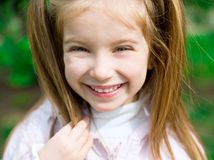 Happy liitle girl Royalty Free Stock Photo