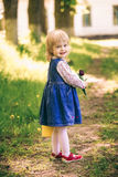 Portrait of happy little blond girl Stock Images