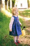 Portrait of happy little blond girl Royalty Free Stock Photo