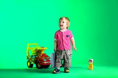 The portrait of a happy little boy Stock Photography
