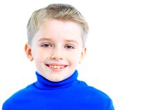 Portrait of happy little boy Stock Images