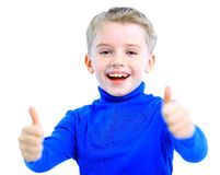 Portrait of happy little boy Royalty Free Stock Photos