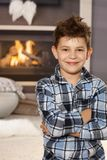 Portrait of happy little boy at home Royalty Free Stock Photography