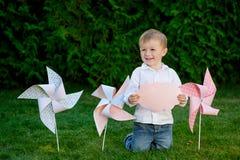 Portrait of a happy little boy Stock Photo
